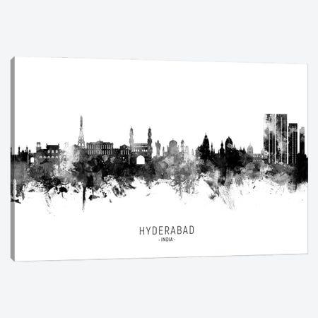 Hyderabad India Skyline Name Bw Canvas Print #MTO2962} by Michael Tompsett Art Print
