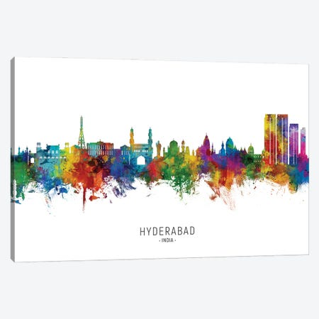 Hyderabad India Skyline City Name Canvas Print #MTO2963} by Michael Tompsett Canvas Art Print