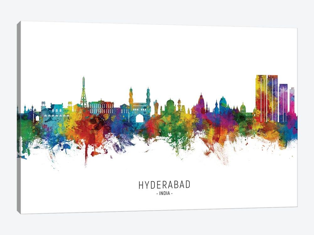 Hyderabad India Skyline City Name by Michael Tompsett 1-piece Canvas Wall Art
