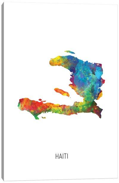 Haiti Map Canvas Art Print