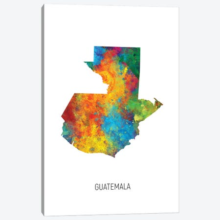 Guatemala Map Canvas Print #MTO2973} by Michael Tompsett Canvas Wall Art