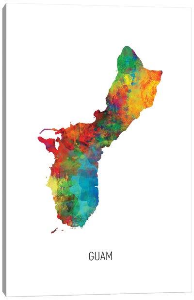 Guam Map Canvas Art Print