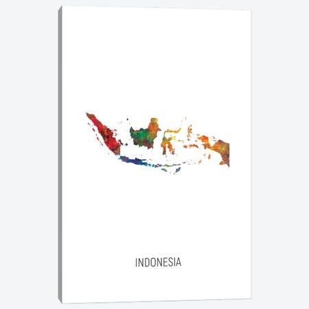Indonesia Map Canvas Print #MTO2975} by Michael Tompsett Canvas Print
