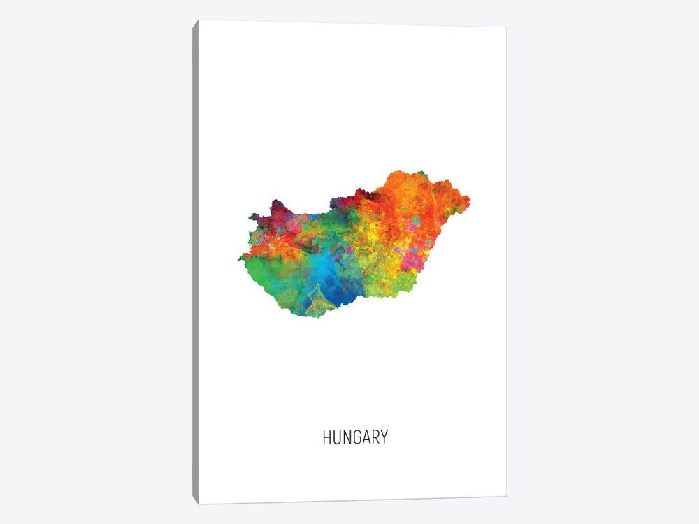 Hungary Map by Michael Tompsett 1-piece Art Print