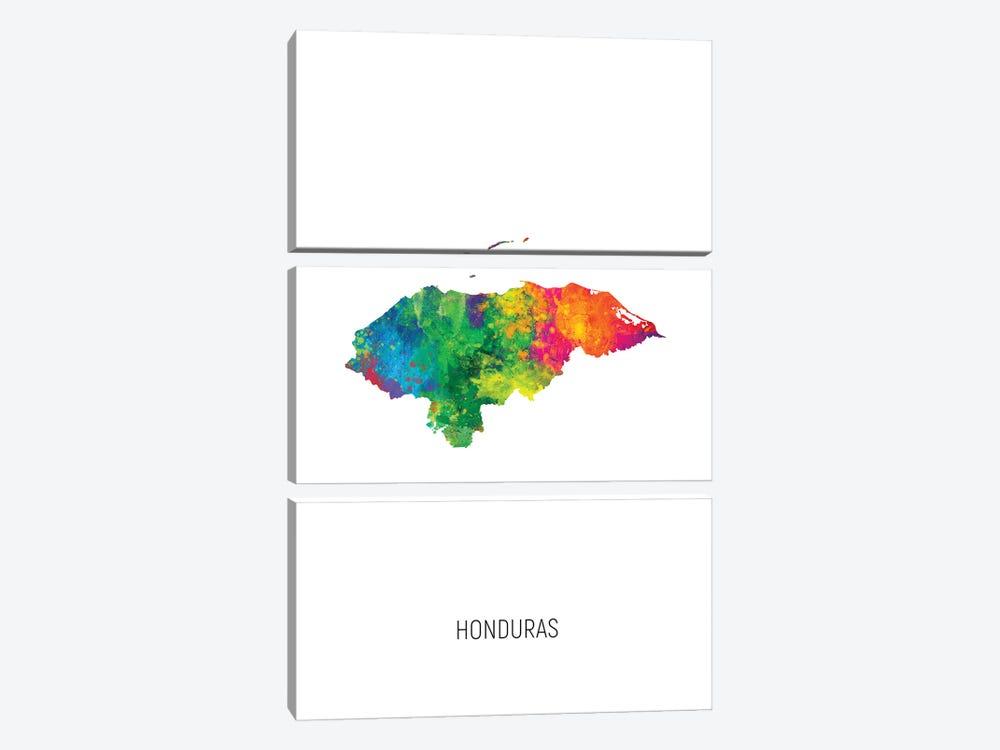 Honduras Map by Michael Tompsett 3-piece Art Print