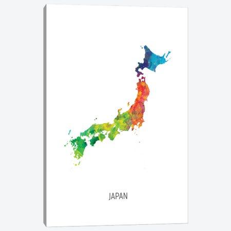 Japan Map Canvas Print #MTO2980} by Michael Tompsett Art Print