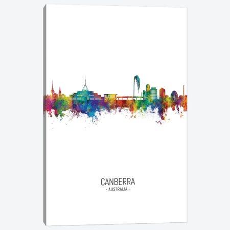 Canberra Australia Skyline Portrait Canvas Print #MTO2985} by Michael Tompsett Canvas Art