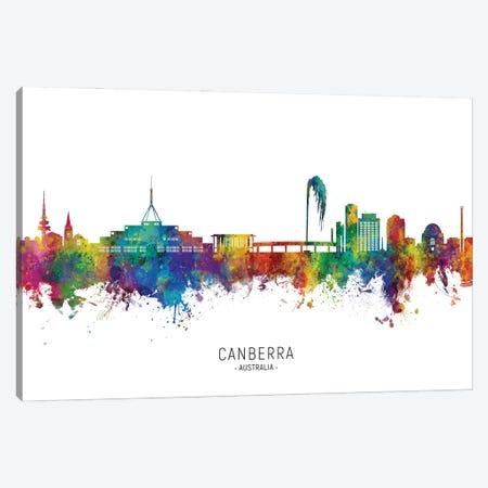 Canberra Australia Skyline City Name Canvas Print #MTO2988} by Michael Tompsett Art Print