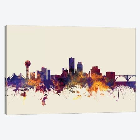 Knoxville, Tennessee, USA On Beige Canvas Print #MTO298} by Michael Tompsett Canvas Artwork
