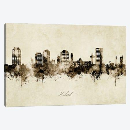 Hobart Australia Skyline Vintage Canvas Print #MTO2991} by Michael Tompsett Canvas Artwork