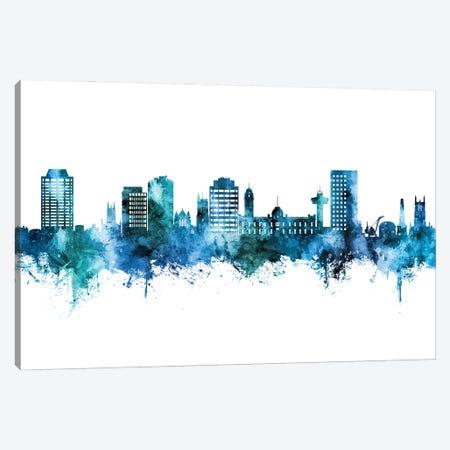 Hobart Australia Skyline Blue Teal Canvas Print #MTO2994} by Michael Tompsett Canvas Print