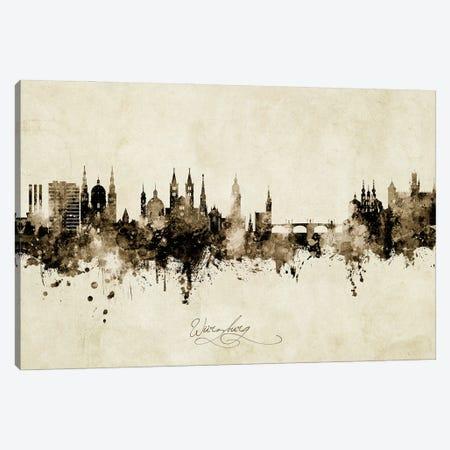 Wurzburg Deutschland Skyline Vintage Canvas Print #MTO2996} by Michael Tompsett Canvas Print