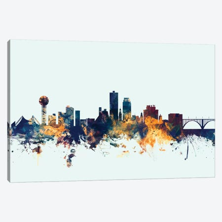 Knoxville, Tennessee, USA On Blue Canvas Print #MTO299} by Michael Tompsett Canvas Wall Art