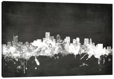 Blackboard Skyline Series: Boston, Massachusetts, USA Canvas Art Print