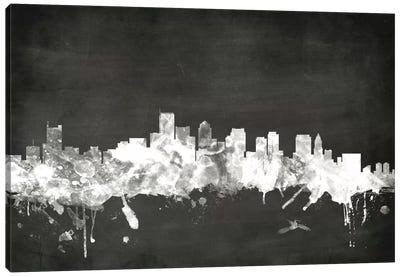 Blackboard Skyline Series: Boston, Massachusetts, USA Canvas Print #MTO2