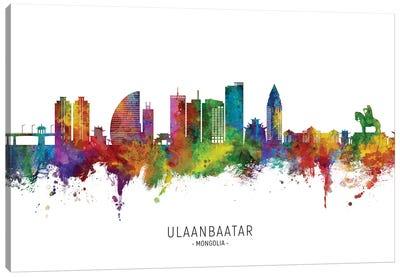 Ulaanbaatar Mongolia Skyline City Name Canvas Art Print