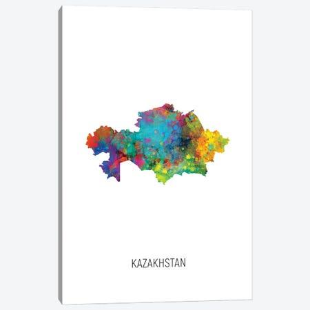 Kazakhstan Map Canvas Print #MTO3008} by Michael Tompsett Art Print