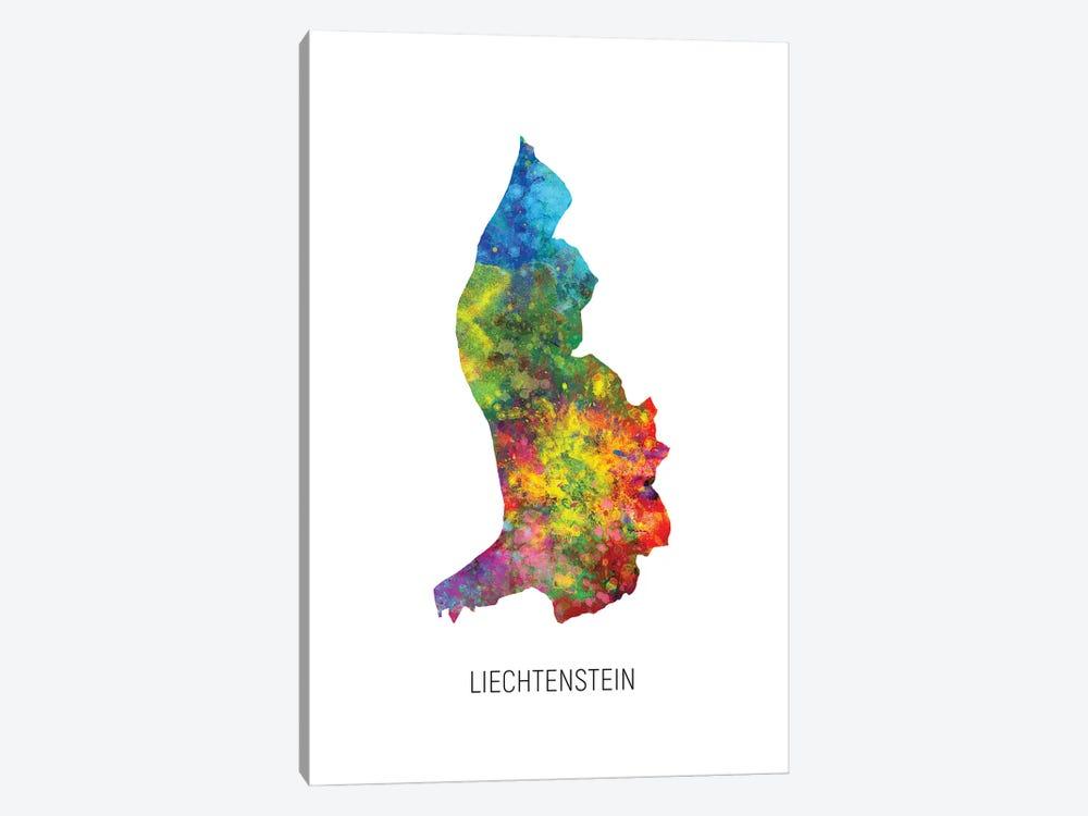 Liechtenstein Map by Michael Tompsett 1-piece Canvas Print