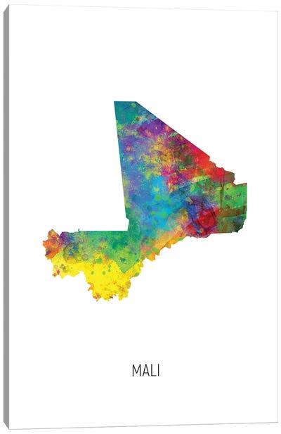 Mali Map Canvas Art Print