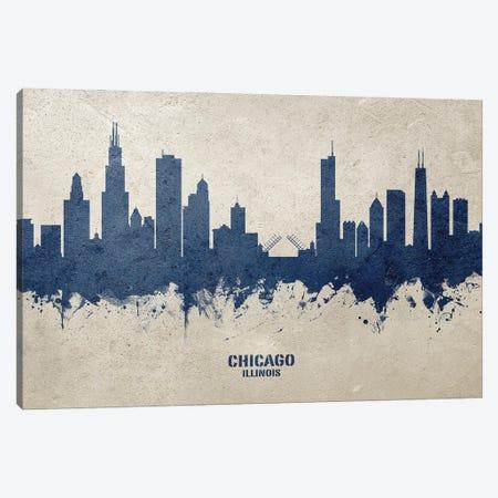 Chicago Illinois Skyline Concrete Canvas Print #MTO3020} by Michael Tompsett Canvas Art Print