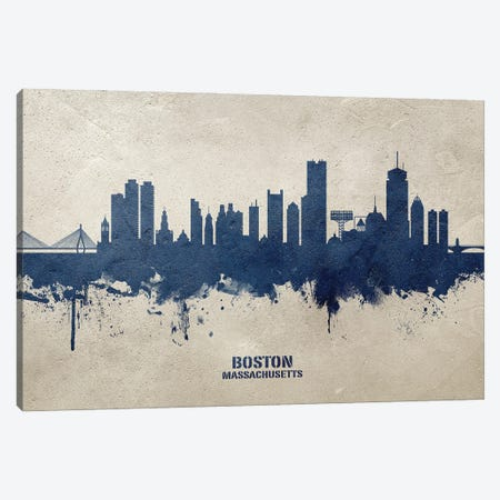 Boston Massachusetts Skyline Concrete Canvas Print #MTO3021} by Michael Tompsett Canvas Art Print