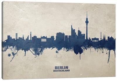 Berlin Deutschland Skyline Concrete Canvas Art Print