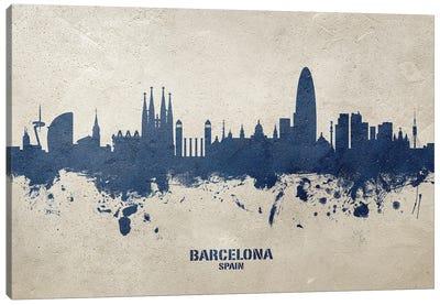 Barcelona Spain Skyline Concrete Canvas Art Print