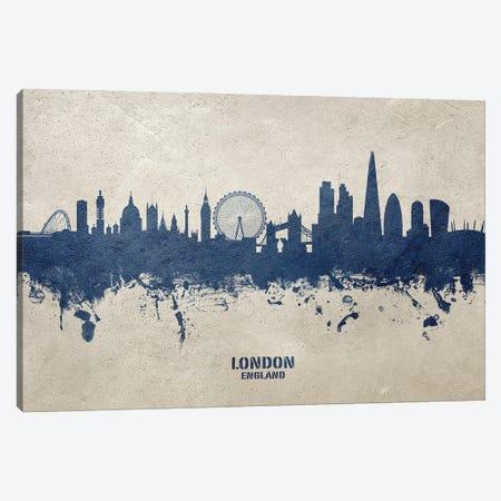 London England Skyline Concrete Canvas Print #MTO3024} by Michael Tompsett Canvas Wall Art