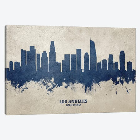 Los Angeles California Skyline Concrete Canvas Print #MTO3026} by Michael Tompsett Canvas Art