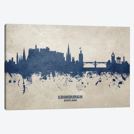 Edinburgh Scotland Skyline Concrete Canvas Print #MTO3027} by Michael Tompsett Canvas Wall Art