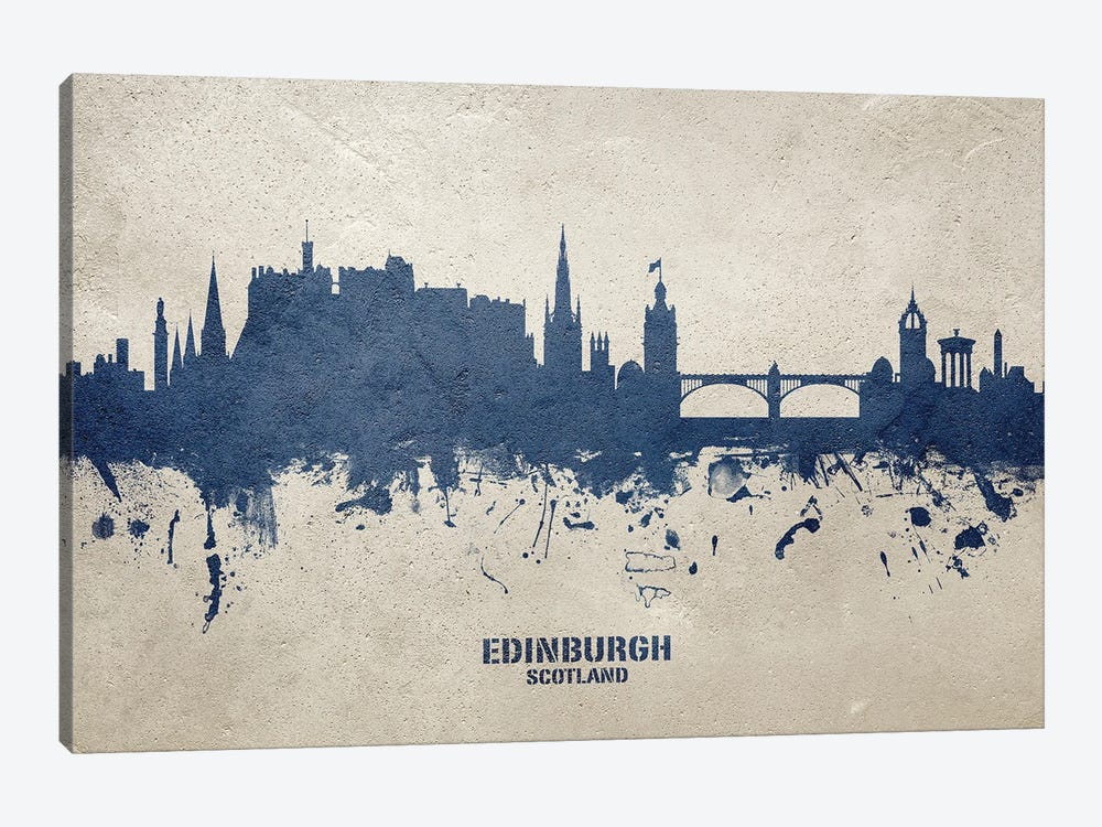 Edinburgh Scotland Skyline Concrete 1-piece Canvas Art