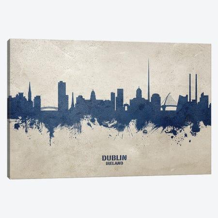 Dublin Ireland Skyline Concrete Canvas Print #MTO3028} by Michael Tompsett Canvas Print