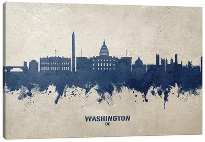 Washington Dc Skyline Concrete Canvas Art Print