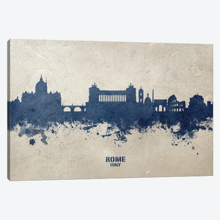 Rome Italy Skyline Concrete Canvas Print #MTO3031} by Michael Tompsett Canvas Wall Art