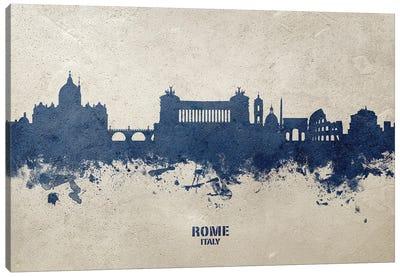 Rome Italy Skyline Concrete Canvas Art Print