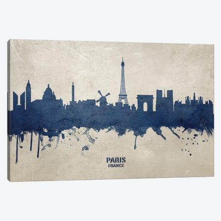 Paris France Skyline Concrete Canvas Print #MTO3032} by Michael Tompsett Canvas Artwork