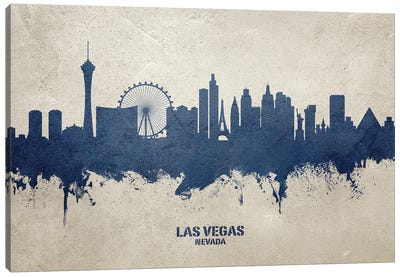 Las Vegas Nevada Skyline Concrete Canvas Art Print