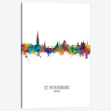 St Petersburg Russia Skyline Portrait Canvas Print #MTO3039} by Michael Tompsett Canvas Artwork
