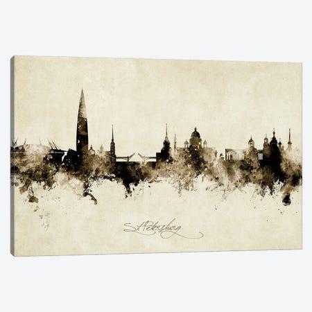 St Petersburg Russia Skyline Vintage Canvas Print #MTO3040} by Michael Tompsett Canvas Art Print