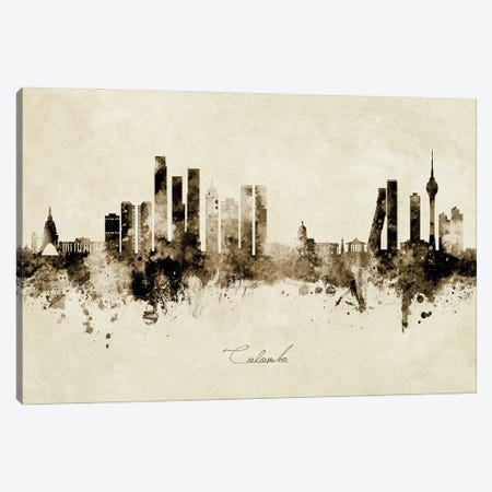 Colombo Sri Lanka Skyline Vintage Canvas Print #MTO3045} by Michael Tompsett Canvas Wall Art