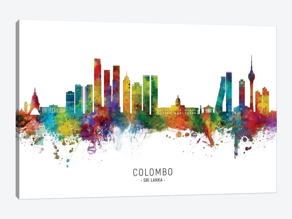 Colombo Sri Lanka Skyline City Name by Michael Tompsett 1-piece Canvas Artwork