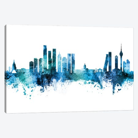 Colombo Sri Lanka Skyline Blue Teal Canvas Print #MTO3048} by Michael Tompsett Canvas Art Print