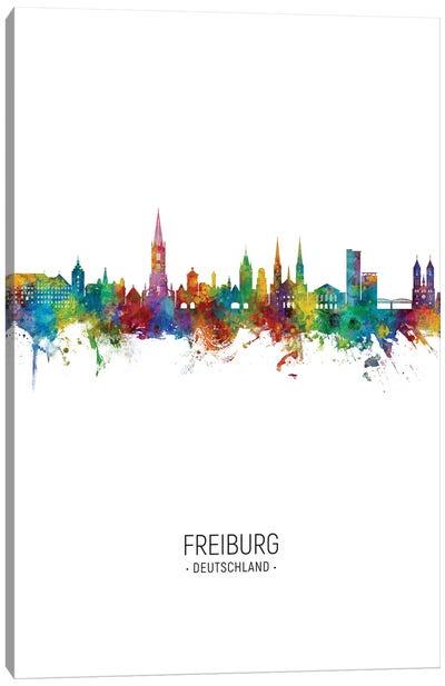 Freiburg Deutschland Skyline Portrait Canvas Art Print