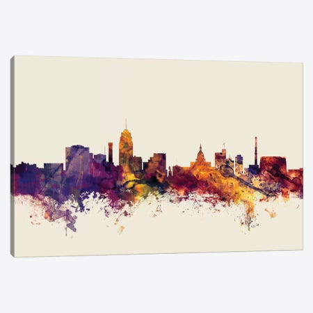 Lansing, Michigan, USA On Beige Canvas Print #MTO304} by Michael Tompsett Art Print