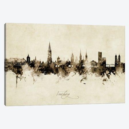 Freiburg Deutschland Skyline Vintage Canvas Print #MTO3050} by Michael Tompsett Canvas Artwork
