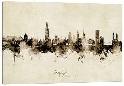 Freiburg Deutschland Skyline Vintage Canvas Art Print