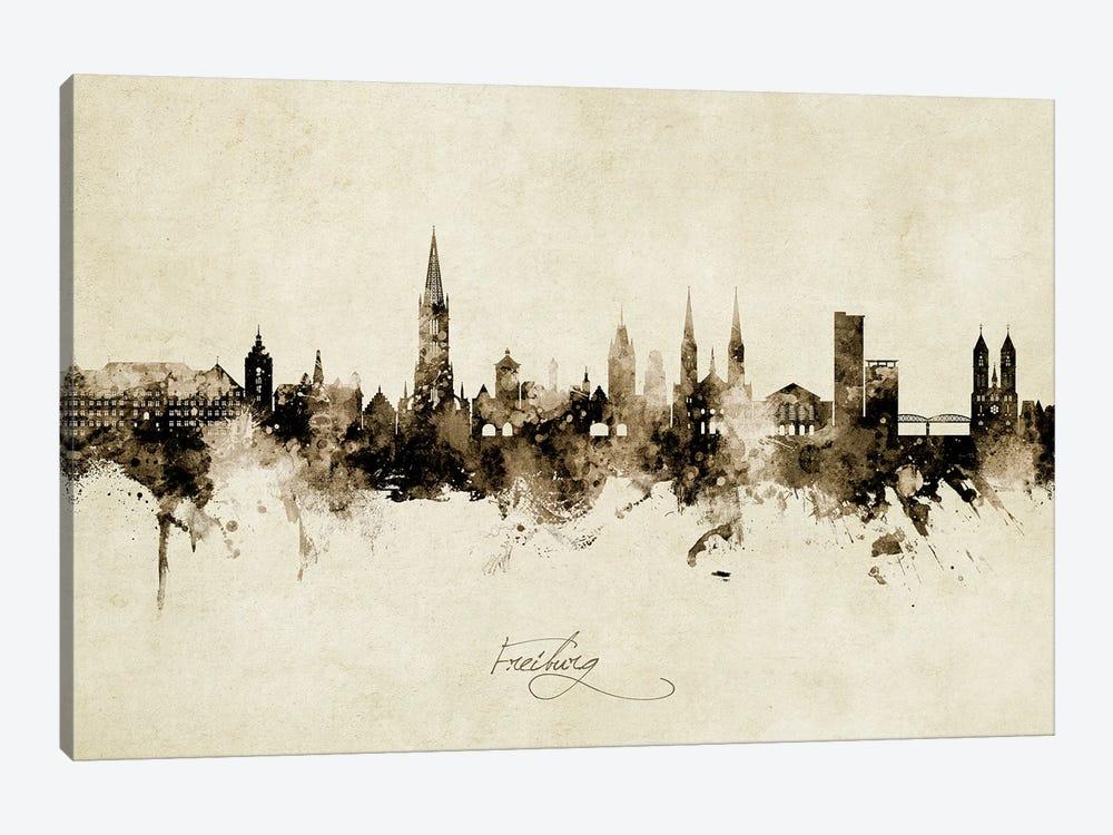 Freiburg Deutschland Skyline Vintage by Michael Tompsett 1-piece Canvas Artwork