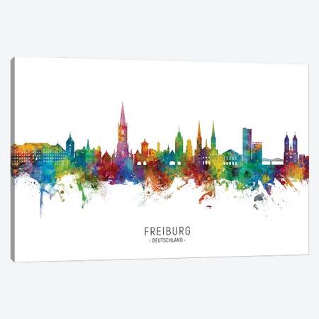 Freiburg Deutschland Skyline City Name Canvas Print #MTO3052} by Michael Tompsett Canvas Wall Art