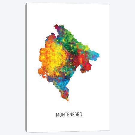 Montenegro Map Canvas Print #MTO3054} by Michael Tompsett Canvas Print