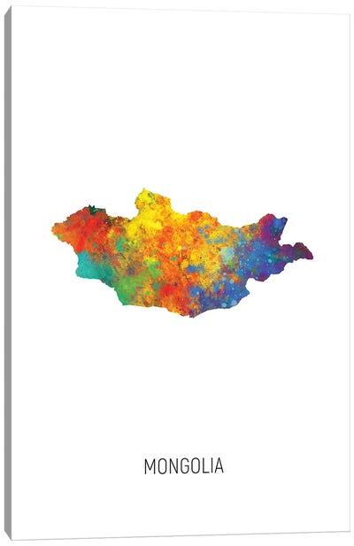 Mongolia Map Canvas Art Print